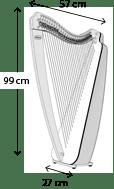 Odyssey harp dimensions